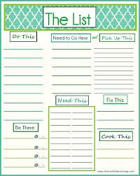printable to do list - Google Search