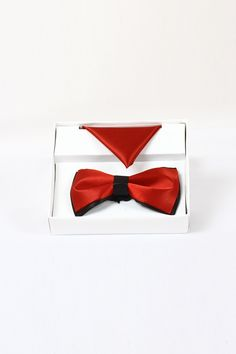 http://tinyurl.com/jz522xv Buy Online Stylish Party Wear WIDSOR Red Silk Bow Ties only on GetAbhi.com