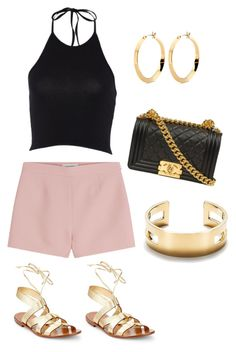 """""""Night out"""" by natalie-pinsonneault on Polyvore featuring Valentino, Chanel, Tiffany & Co. and Kate Spade"""