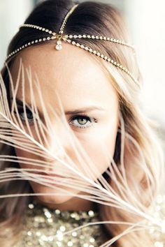 Beautiful boho headpieces! See more at http://www.wantthatwedding.co.uk/2014/07/23/all-that-glitters-beautiful-boho-glam-collection-by-shut-the-front-door/: