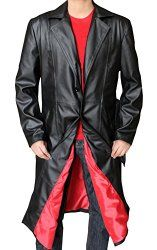 New Blade Leather Trench Mens Long Coat Black | Gothic Dress Code