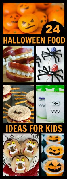 EASY & ADORABLE HALLOWEEN FOOD IDEAS FOR KIDS- great for class parties and lunchbox surprises
