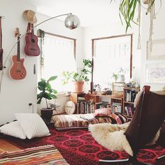 """""""A lot of you have asked where I get my rugs from, and I wanted to share the info of Nez, @kayakilims , who is the sweetest and most rad supplier of vintage Kilim rugs directly from Turkey. It was so amazing to work with her, the rugs and pillows arrived clean and are so pretty. I can't wait to style them in our home and take them on the road a lady of good vibes for sure.... Check out her covet worthy collections.... @kayakilims"""" Photo taken by @emily_katz on Instagram, pinned via the…"""