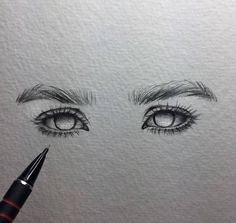 [New] The 10 Best Drawings Today (with Pictures) Pencil Art Drawings, Art Drawings Sketches, Cute Drawings, Sketches Of Eyes, Inspiration Art, Art Inspo, Ipad Kunst, Art Du Croquis, Eye Sketch