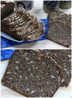 Easy Danish Rye Bread (Rugbrød). daringgourmet.com