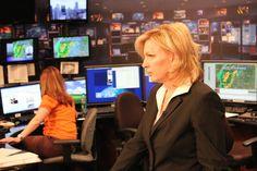 Meteorologists Kristen Cornett & Katie Horner tracking the Storms, 2013