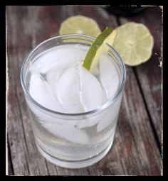 Lemongrass, lime & artisanal gin cocktail