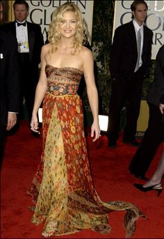 Kate Hudson Golden Globes Hippie Style Bohemian Boho Chic Outfits
