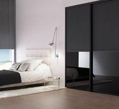 #noir #black #porte #placard #vitre #duo #Coulidoor #bedroom #design
