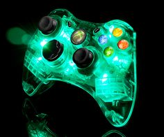 XBox controller with LED Lights  Like, Re-Pin. Thank's!!!  Repined by http://www.casualgameportal.com/category/xbox/