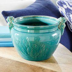 Turquoise Dragon Pot Decor