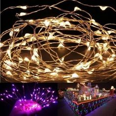 1x 2M 20 LEDs Battery Operated Mini LED Copper Wire String Fairy Lights in Home & Garden, Lamps, Lighting & Ceiling Fans, String Lights, Fairy Lights | eBay