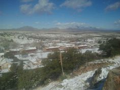 Snowy Fort Huachuca, AZ from Reservoir Hill