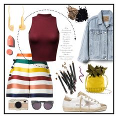 """🍍😍"" by hessa-46 ❤ liked on Polyvore featuring Carolina Herrera, Gap, Golden Goose, STELLA McCARTNEY, Kate Spade, Bobbi Brown Cosmetics, PUR, Topshop and Dolce&Gabbana"