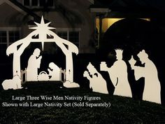 free silhoutte nativity scene patterns | Three Wise Men Nativity Figures with Nativity Set