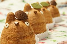 Totoro Cream Puffs. | 15 Unique Easter Recipes That Are Actually A Breeze To Prepare