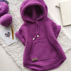 VK is the largest European social network with more than 100 million active users. Kids Knitting Patterns, Crochet Poncho Patterns, Knitting For Kids, Baby Knitting, Knit Crochet, Crochet Baby Sandals, Crochet Baby Clothes, Warm Outfits, Kids Outfits