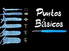 Crochet Fácil Puntos Básicos| Repaso para Principiantes | How To Crochet - YouTube Crochet Crop Top, Diy Crochet, Crochet Crafts, Crochet Projects, Fabric Crafts, Crochet Basics, Crochet For Beginners, Crochet Stitches, Knit Patterns