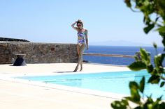 http://allyouneedisstyle.com/ #stefaniafrangista #swim #swimsuit #trends #floral #pinksands #highwaisted #mykonos #greece