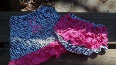 Zebra Hot Pink Swing Back Set with by Prettyinpinkbiz on Etsy, $17.95