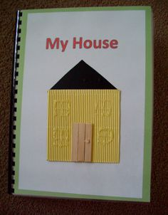 To prepare your child who is blind or visually impaired for using maps, help him or her make a tactile book comprised of a map of each room of your home. (Image: Tactile Book (My House)) Visually Impaired Activities, Tactile Activities, Gross Motor Activities, Braille, Sensory Book, School Items, School Stuff, Autism Classroom, Classroom Ideas