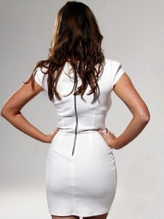 (FITS016196 )2012 Spring Style Sheath / Column Off-the-shoulder  Short  Short / Mini  Satin White Cocktail Dress / Homecoming Dress