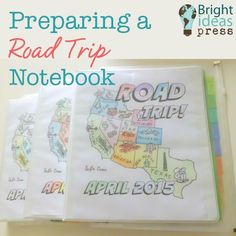 Preparing a Road Trip Notebook Before Your Travels
