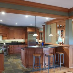 Kitchen slate kitchen floor Design Ideas, Pictures, Remodel and Decor