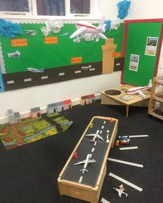 Our small world is a run way! Playgroup Activities, Nursery Activities, Transport Topics, Plane Crafts, Childcare Rooms, Preschool Playground, People Who Help Us, Reggio Inspired Classrooms, Early Years Classroom