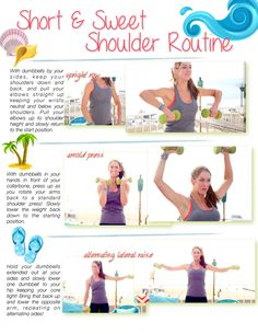 3 Moves for Sexy, Sculpted Shoulders! It's your short and sweet shoulder routine!