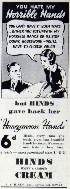 do beautiful things to other people's hair and I end up with ugly, dry, cracked, color stained hands! It's such a bummer! Vintage Humor, Vintage Ads, Vintage Posters, Vintage Girls, Vintage Stuff, Old Advertisements, Advertising, Retro Ads, Old Ads