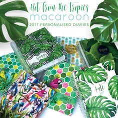 Personalised year planners - this years jungle theme from www.macaroon.co.za