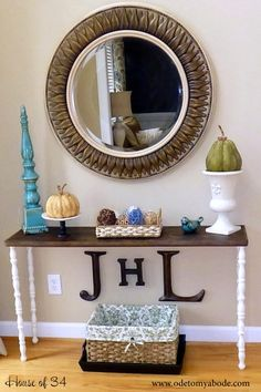 ode to my abode - DIY-entry-table