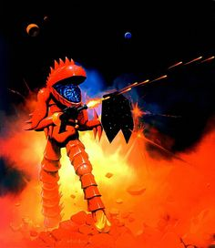 Commercial art by Ken Kelly for Micronauts.