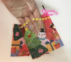 Festive Snowman Gift Bags Cello Self-adhesive Cookie bag - Favors Party bags 20/50 bags CB65