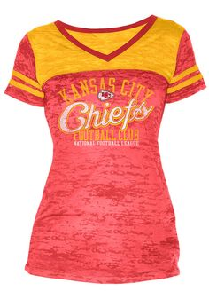 Touch by Alyssa Milano Kansas City Chiefs Co-Op Burnout T-Shirt