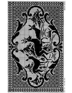 filet_crochet_deer2.jpg (612×792) from http://purplekittyyarns.com/images/info/filet_crochet_deer2.jpg