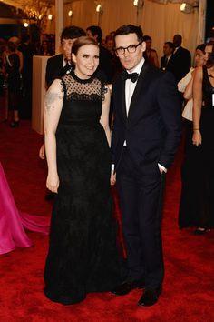 Lena Dunham walked the 2013 Met Gala red carpet with Erdem, the designer of her dress!