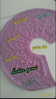 Sevgİ Butİk: Bebek Ülevalt All - Bebek Butİk - Diy Crafts Knitting For Kids, Baby Knitting Patterns, Lace Knitting, Crochet For Kids, Knitting Designs, Knitting Stitches, Baby Patterns, Crochet Baby, Baby Cardigan