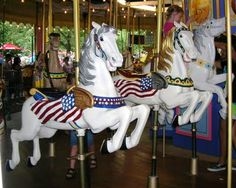 These horses & the other animals on this carousel are over 100 years old, and made of solid wood. They are in the Lagoon Amusement Park In Farmington, Utah...My little town that I LOVE <3