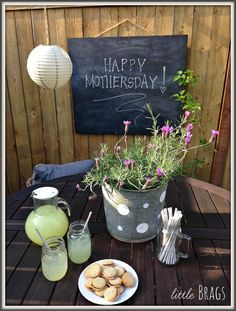 A Mothers Day Table On The Back Patio With Balsam Hill @christinevd