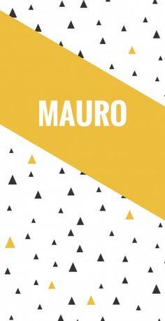 Geboortekaartje geometrische driehoekjes - Mauro voor