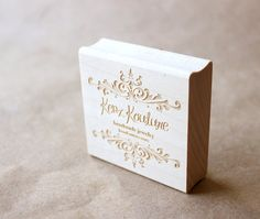 I am getting this - how cool are these stamps???!!!! Custom business card wooden rubber stamp by eatpraycreate on Etsy, $38.00