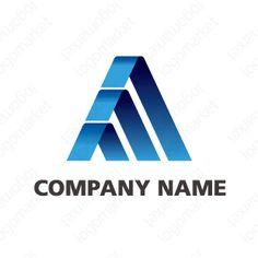 ロゴマーク「成長のA」[飛躍/信頼/AAA](コンサル、製造、設備、金融、テクノロジー) Company Names, Logo Design, Logos, Blue, Business Names, Logo