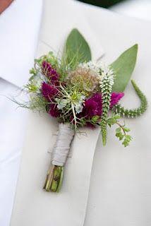 Sage and nigella buttonhole