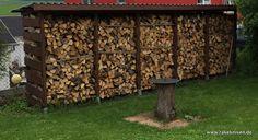 Einen stabilen Brennholzunterstand (Brennholzschuppen) gut und günstig selbst bauen   rakeknivens world