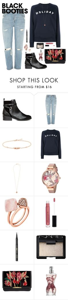 """Winter Booties"" by flarewitchproject ❤ liked on Polyvore featuring River Island, LC COLLECTION, Holiday, Henri Bendel, Nine West, Michael Kors, Anastasia Beverly Hills, NARS Cosmetics, Lizzie Fortunato and Jean-Paul Gaultier"