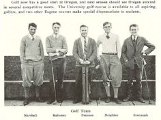 1924-25 UO golf team.  From the 1925 Oregana (University of Oregon yearbook).  www.CampusAttic.com
