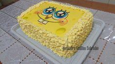 TÉLO BOLOS Confeitaria Artesanal: Bolo Bob Esponja de Marshmallow