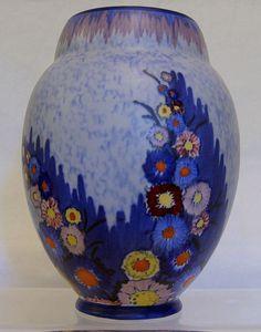 Carlton Ware Art Deco 'Garden' Ovoid Vase - mid 1930s